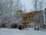 Турбаза Арктика главный корпус зимой