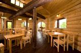 Турбаза Зеленый берег, кафе интерьер