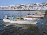 База Кильдин Восточный, лодки у причала