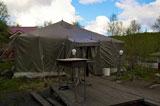 Кречет, палатка снаружи