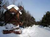 Турбаза Лесная, зимняя дорога