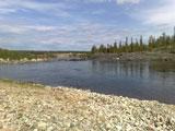 Турбаза Падун, берег водохранилища