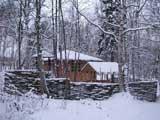 Санаторий Лапландия, беседка зимой