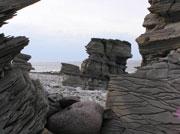 Скалистый берег Баренцева моря