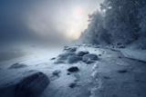 Берег моря, зимой